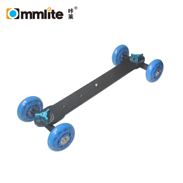 Commlite Super Mute Camera Rail Car Dolly Skater Wheel Truck Slider(Blue)