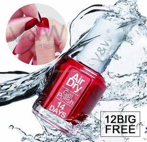 Private label water base air dry peel off permanent nail polish manufacture