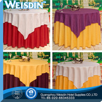 Banquet new style Plain Dyed woven wholesale lace tablecloths