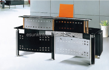 Temper Glass Reception Desk For Office Foshan Office Furniture Manufacturer Sell Office