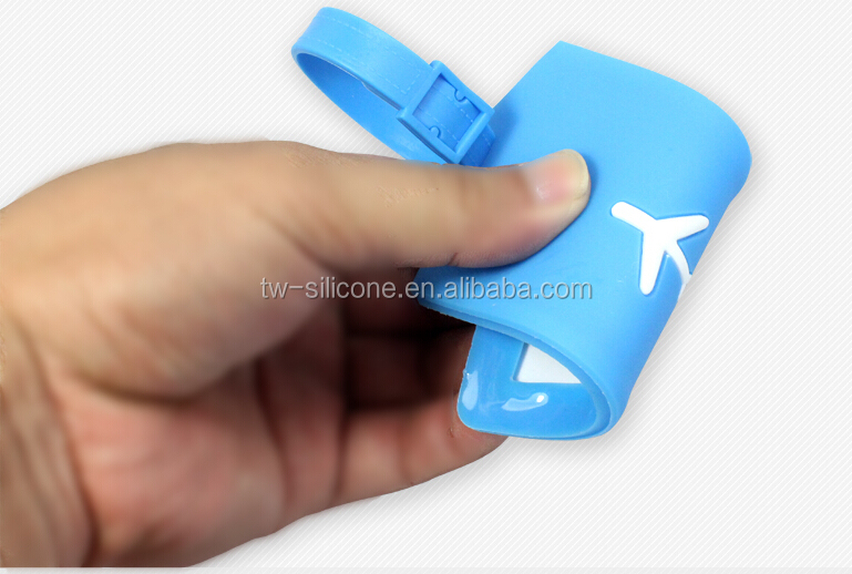 Custom 3D Soft Plastic Luggage Tag Rubber PVC Luggage Tag