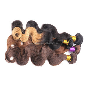 Ombre Hair Extensions 7A Brazilian Body Wave 3 Tone #1B/#4/#30 & T1B/27 & T1B/30 Remy Human Hair Weave 3pcs/Lot