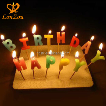 2018 High Quality Plastic Pick OEM Party Letter Happy Birthday Candle