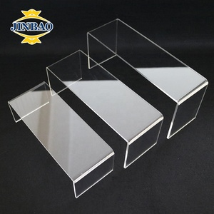JINBAO Wholesale Custom Desktop Crystal VR glasses VR Box Display Stand Clear U shape Jewellery Shoes Acrylic Riser Stand