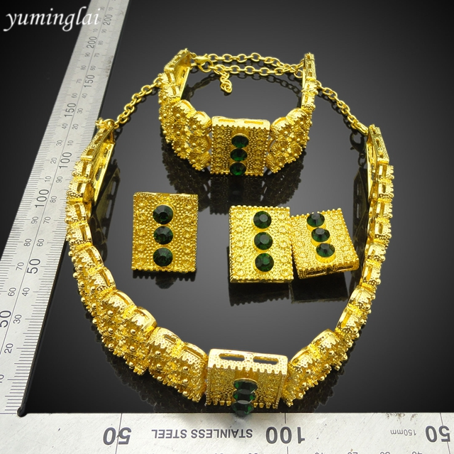 Gold plated costume high quality jewelry