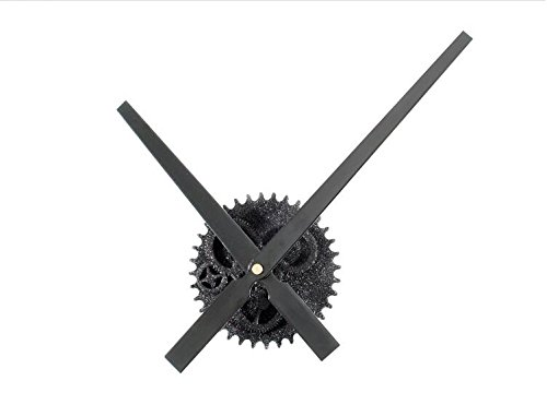 Reliable_E Large Clock Hands Power Movement DIY Wall Clock Kit for Home Decoration (B#black-glittering)