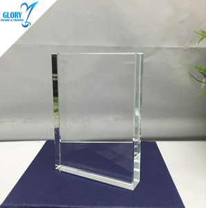 wholesale blank cheap crystal block from China for gift for