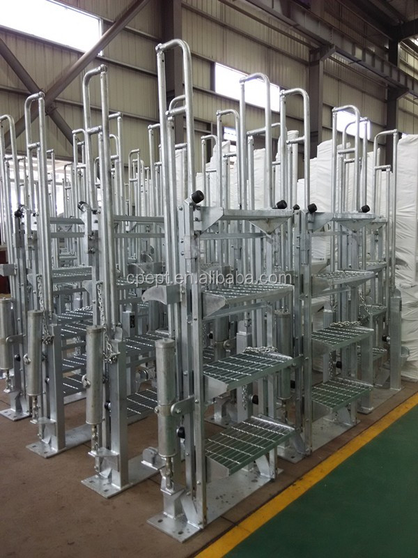 Folding Stairs With Safety Cages For Petrochemcial