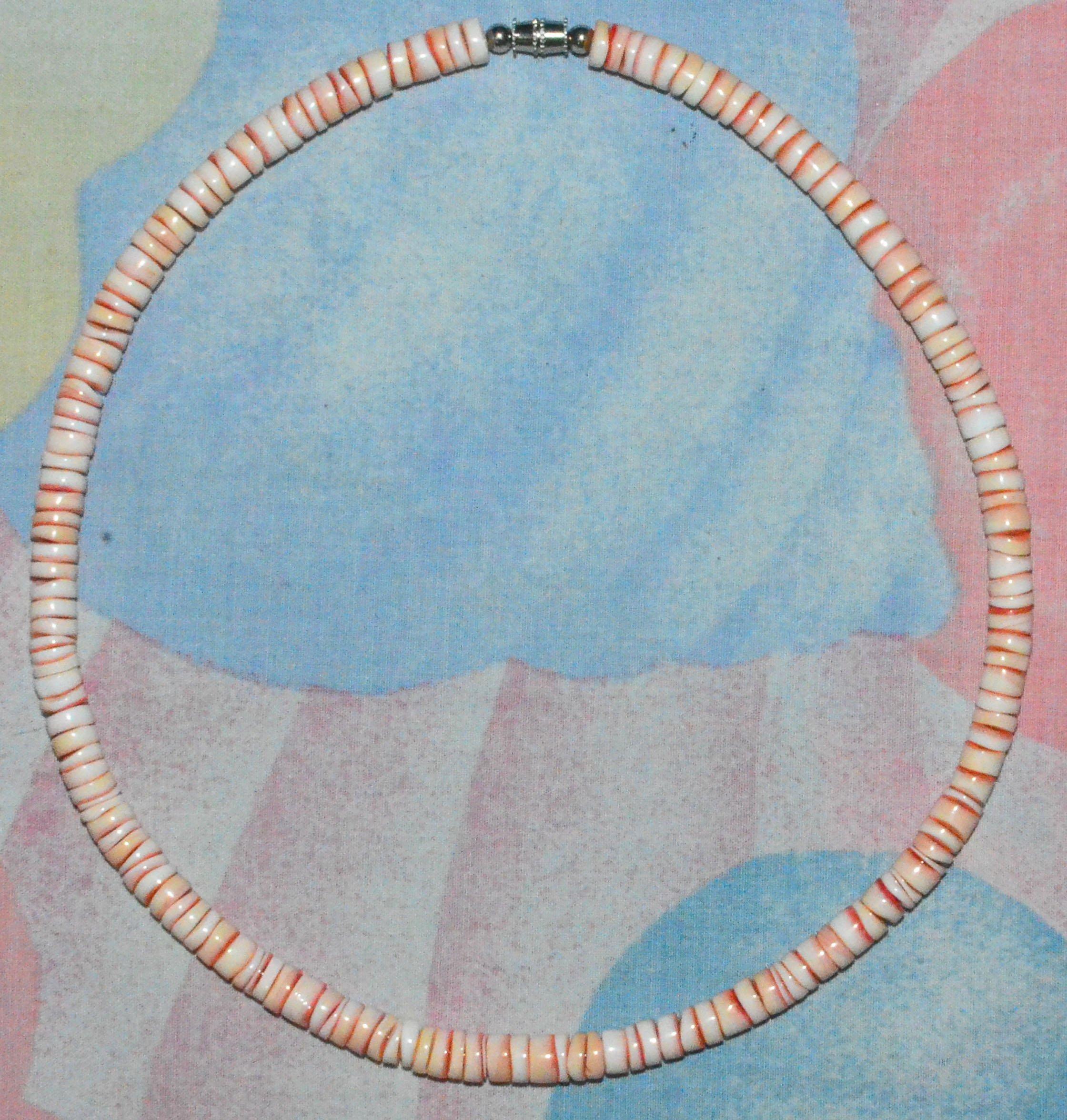 1e3ff844fbffec Get Quotations · Native Treasure - Smooth Pink Puka Shell Necklace Beach  Choker - 6mm - 16