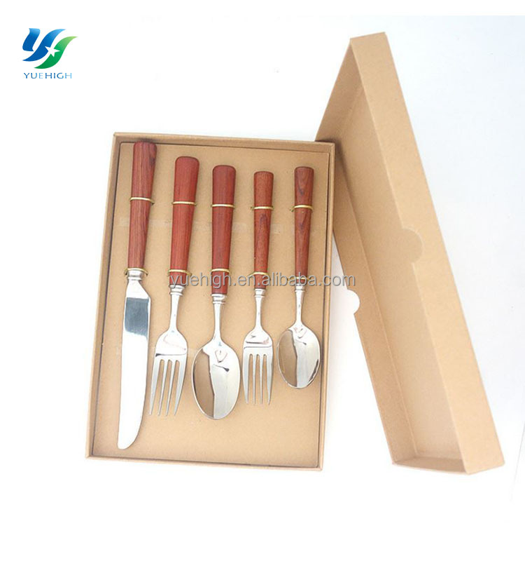 2017 Wooden Handle Stainless Steel Flatware Sets Oneida Flatware