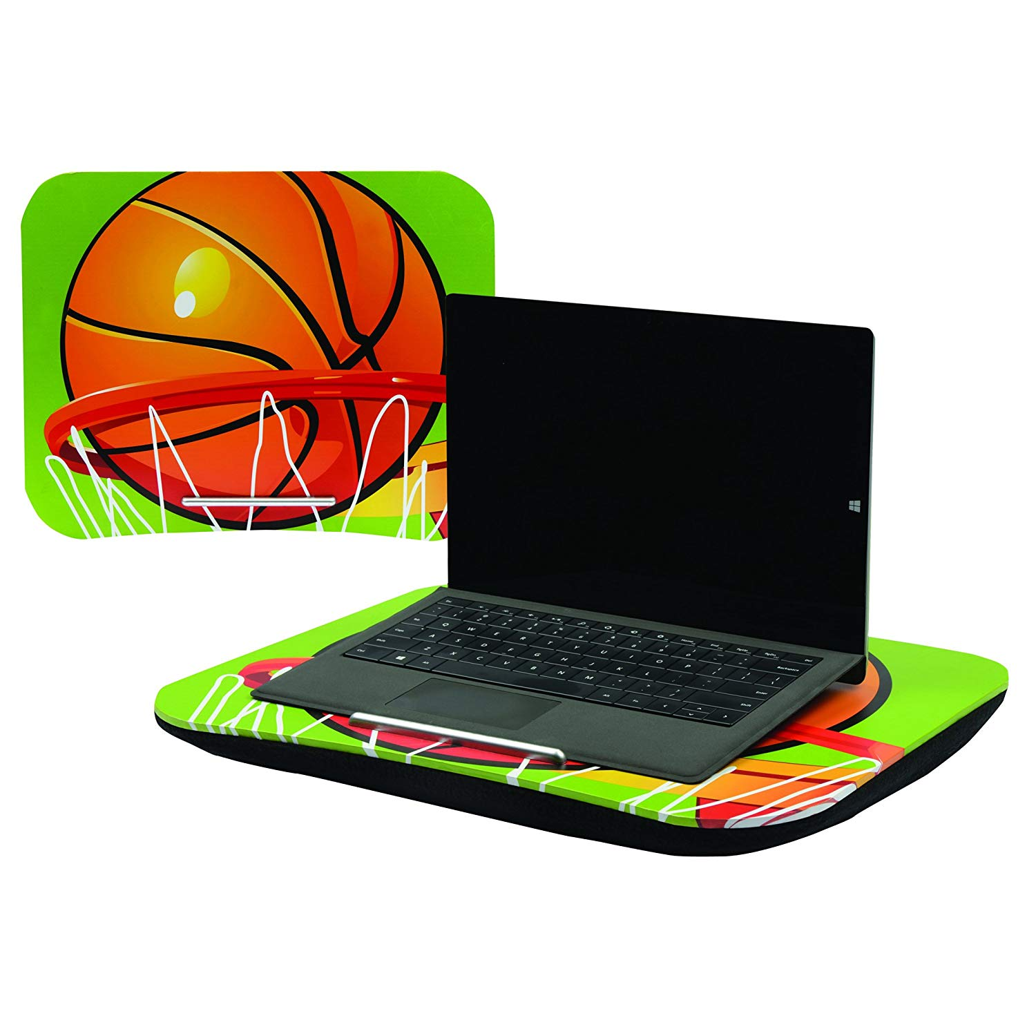 Milen - My Handy Lap Desk - Basketball Themed - Multi-purposed and Portable Workstation with Built-in Handle and Cushion