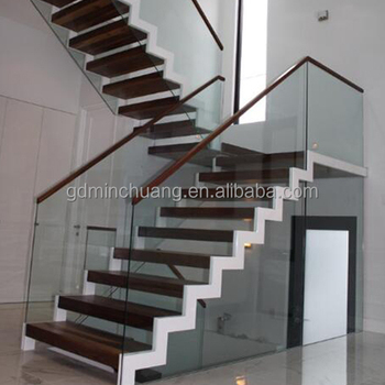 Easy Install Thailand Oak Wood Treads Staircase Stair Terrace Railing