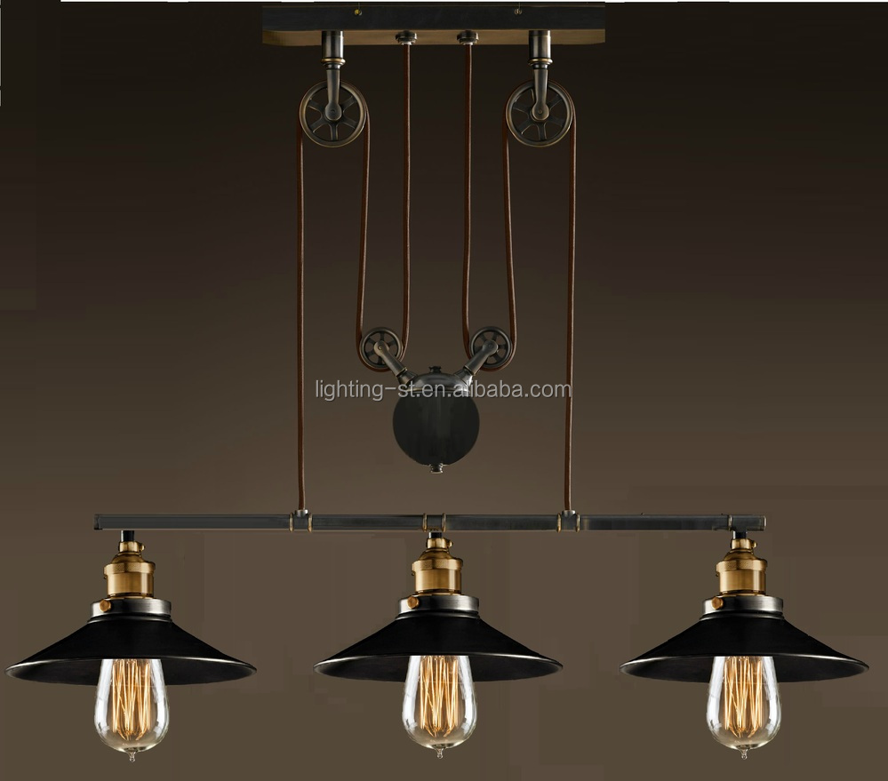 Artistic pendant light with 3 lights in pulley block design morden artistic pendant light with 3 lights in pulley block design morden simple home ceiling light fixture arubaitofo Image collections