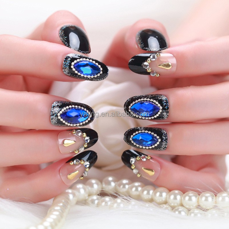 Best Selling 3d Fake Nail French Design False Nail Tips Artificial Nails Decoration Rhinestone - Buy Stiletto Nail Tips,Decoration Rhinestone Rivet ...