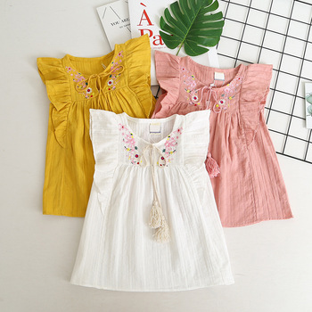 YAYA BABY cotton lace new baby frock design 2014
