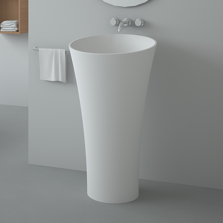 BS-8507 Pedestal Stone Sink, Free Standing Basins, basin pedestal Bathroom