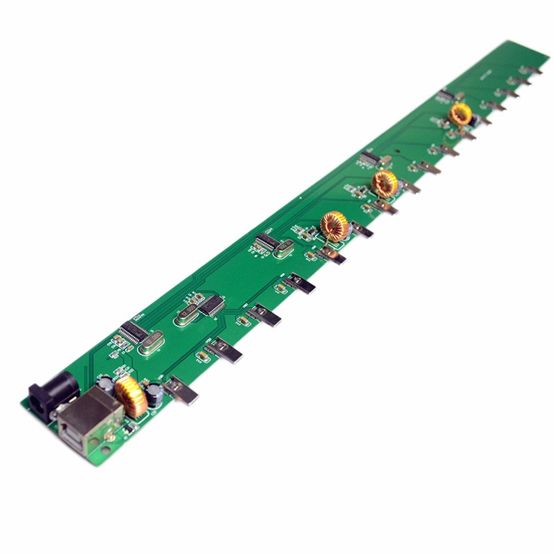 Diy multiport usb 2.0 hub printed electronic pcb board for charging and data transfer