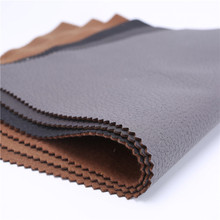 Fuax Leather breathable PU sofa fabric /soft fabric for sofa and bags RHINO-GREY10