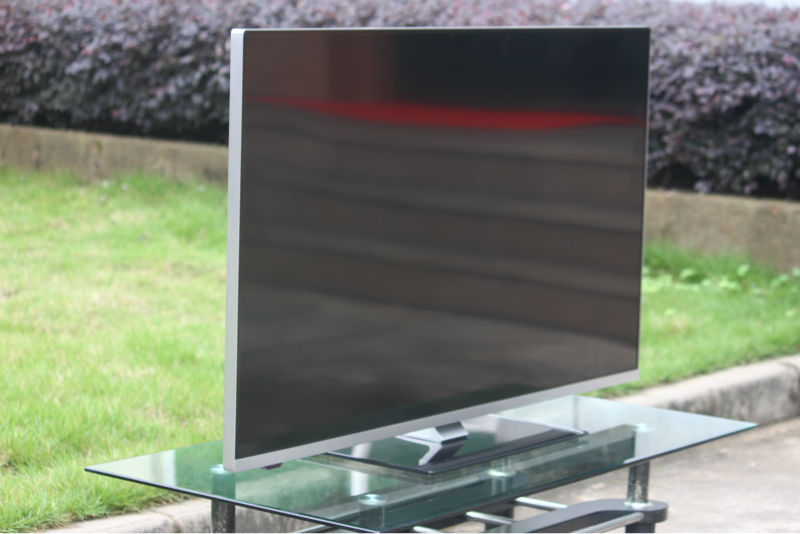 Ultra Thin 58 Size Fhd Silver Metal Gles Frame Android Smart Led Tv