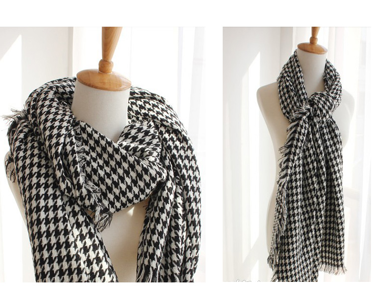 Autumn Winter Brand Designer Style Fashion Black White Plaid Women Men Scarf Size 205*105cm Unisex Couple Scarves Shawl 1520