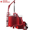 Bamboo Coconut Shell Rice Husk Wood Charcoal Powder Making Carbonization Furnace Stove Retort Machine