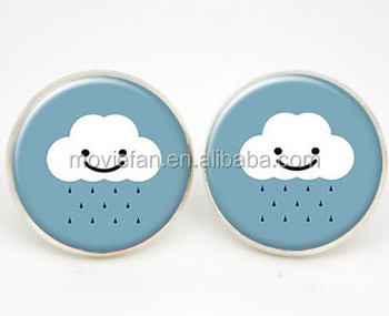 Smiley Face Earrings Cloud Kids Jewelry Weather Summer Girls