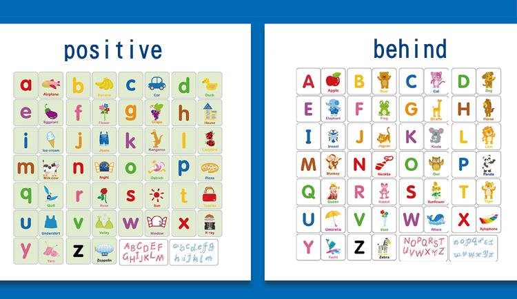Toys Puzzle Montessori English Shape Learning Card Early Education