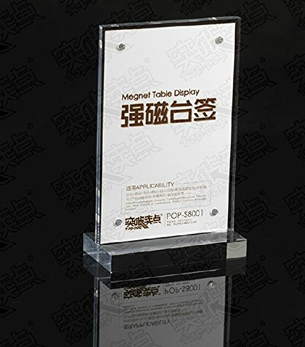 Perspex Table Sign Holders,Acrylic Signage Holders for Restaurants,Hotel,Office& Retail Stores-Pack of 2 units