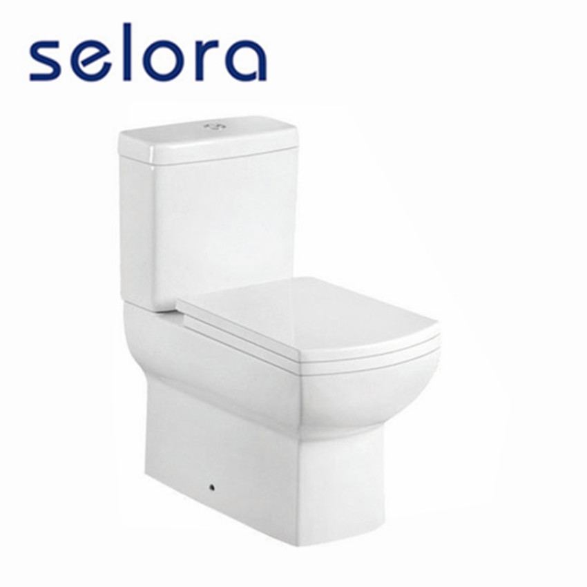 Bathroom sanitary ware square CE western water closet p trap toilet