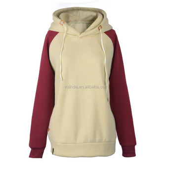 343dc972 Online Shopping Wholesale Women Fashion Clothing Hoodie Two Color Fleece Lining  Hood Sweatshirt Thick Long Sleeve