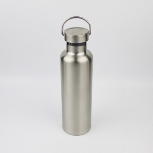 25 oz stainless steel middle mouth insulated reflect water bottle with all steel flex cap