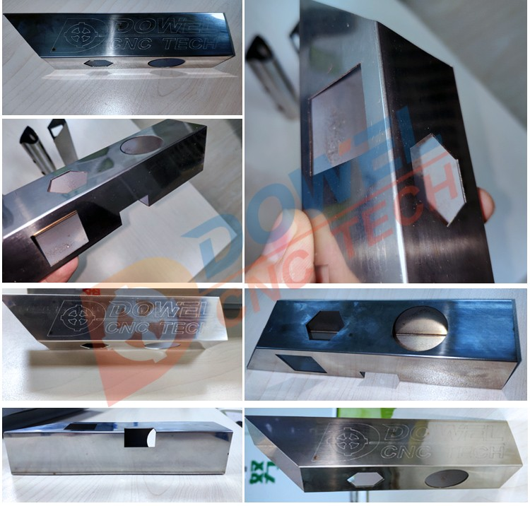 Square tube round tube metal fiber laser cutting machine for jewelry