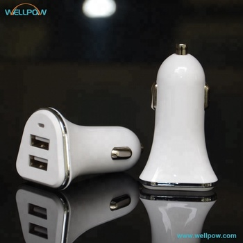 2018 Top Sales Manufacturers Customized Mobile Phone Accessory 5V 2.1A dual usb car charger