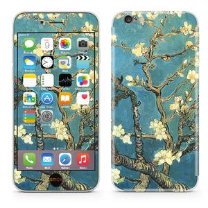 Vincent Van Gogh Blossoming Almond Tree Cellphone Vinyl Removable Stickers Mobile 3M Wraps Skins for iPhone6/7 Plus Full Body