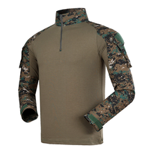 Digital woodland Combat uniform men t เสื้อ