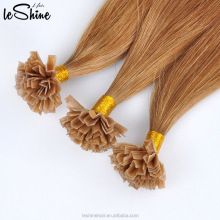 Double drawn white blonde remy Indian human hair extension