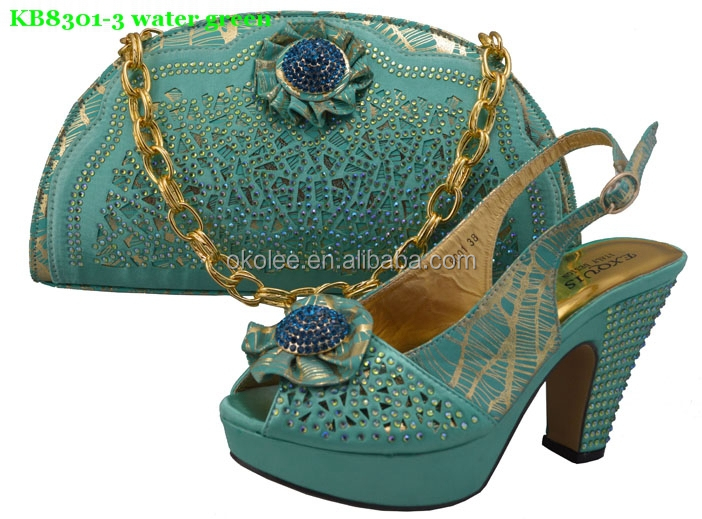 High Quality Shoes And Bags To Match Women Las Wedding Bag