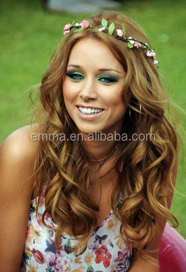 Hot sale fabric flower headband for girls latest nice headband crown young  girl hair accessories wholesale 6f9b886c138