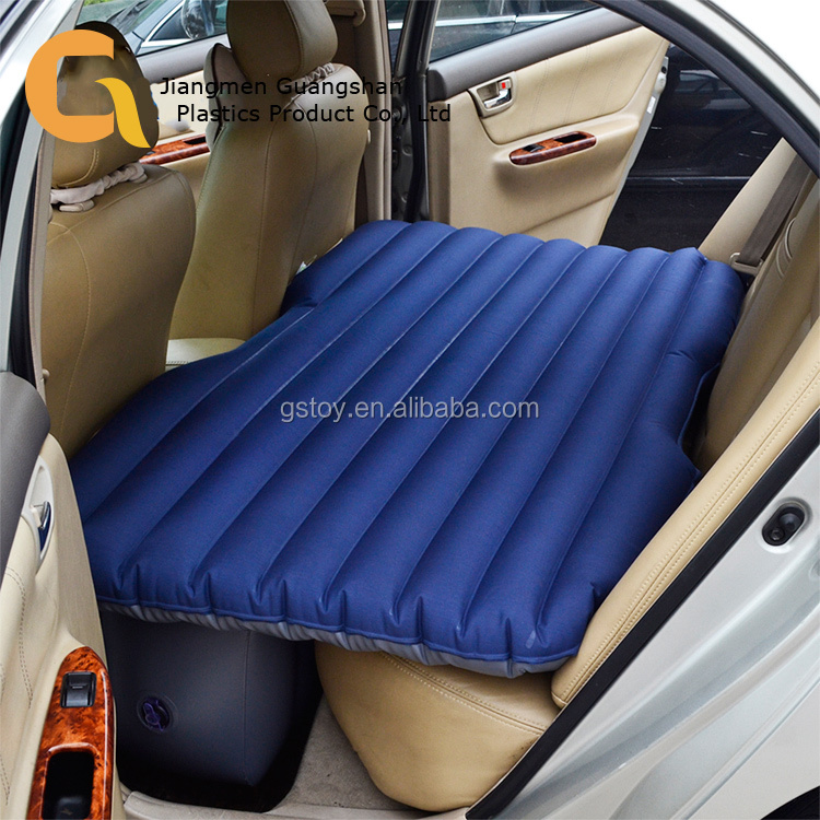 Custom inflatable folding travel car bed for back seat
