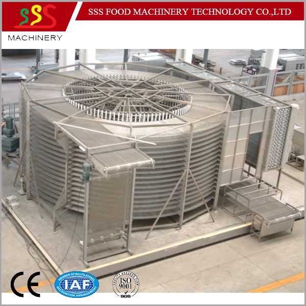 2017 Factory Professional IQF Spiral Freezer with CE certificate