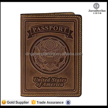 3d Logo Thermo Pu Leather Passport Sleeve Men/lady Travel Passport ...
