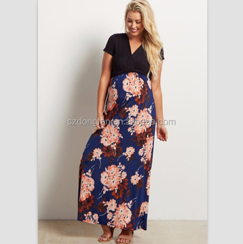 Summer Maxi Maternity Dress