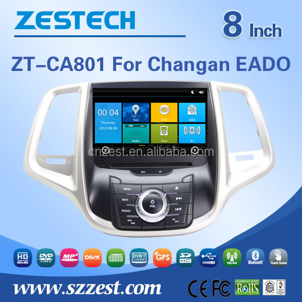 HD 800*480 touch screen car dvd for changan eado dvd built in GPS with radio audio multimedia