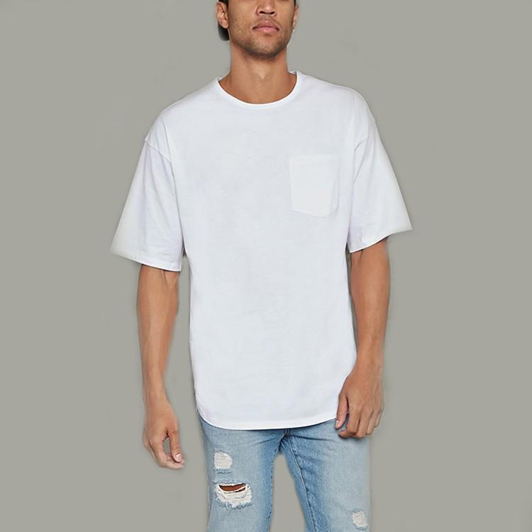 New model mens 39 s t shirt custom blank white plain t shirt for Plain t shirt model
