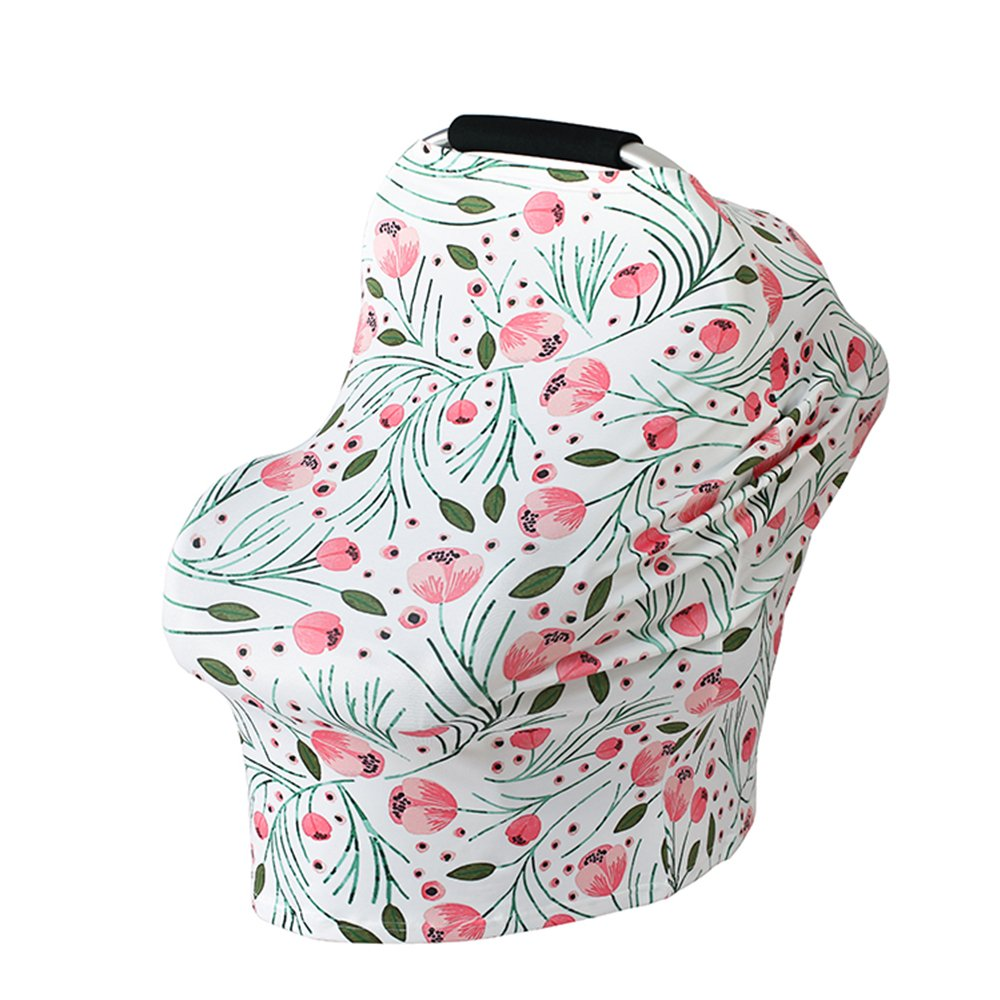 Baby Nursing Cover,Bestxun Car Seat Cover Breastfeeding Cover Car Seat Canopy Shopping Cart Cover (CH57)