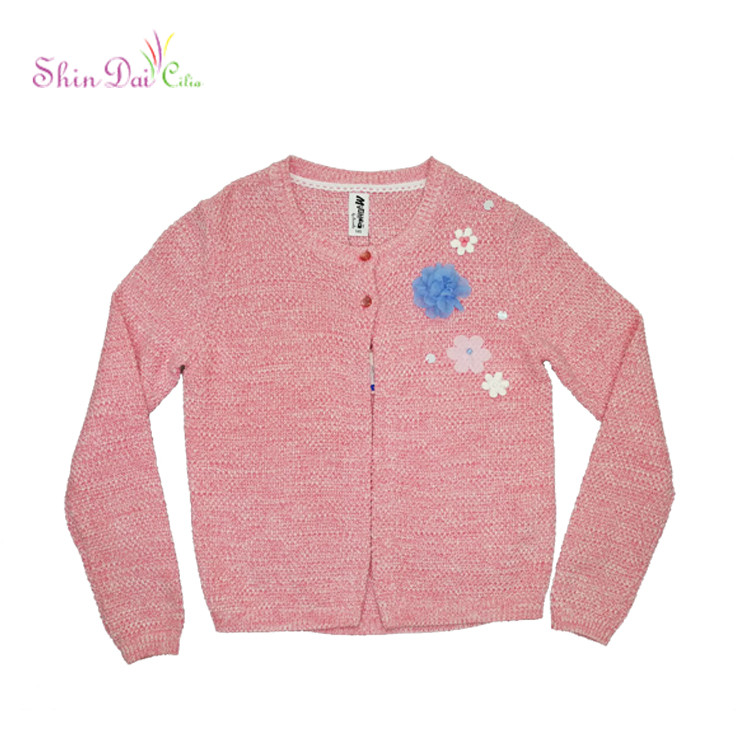 Winter Style Knitwear Cardigan Fashion Blouse Child Sweater Cardigan For Girl