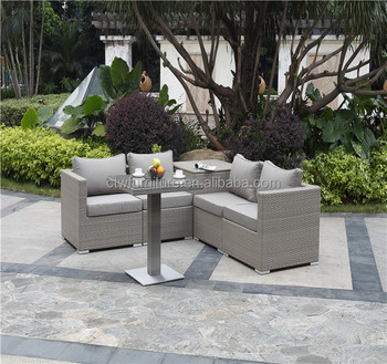 Aluminum Furniture Rattan New Style Sofa Outdoor Set Wicker Garden