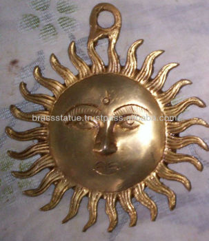Sun Face Surya Hindu God Deity Antique Wall Hanging Home / Garden Decor