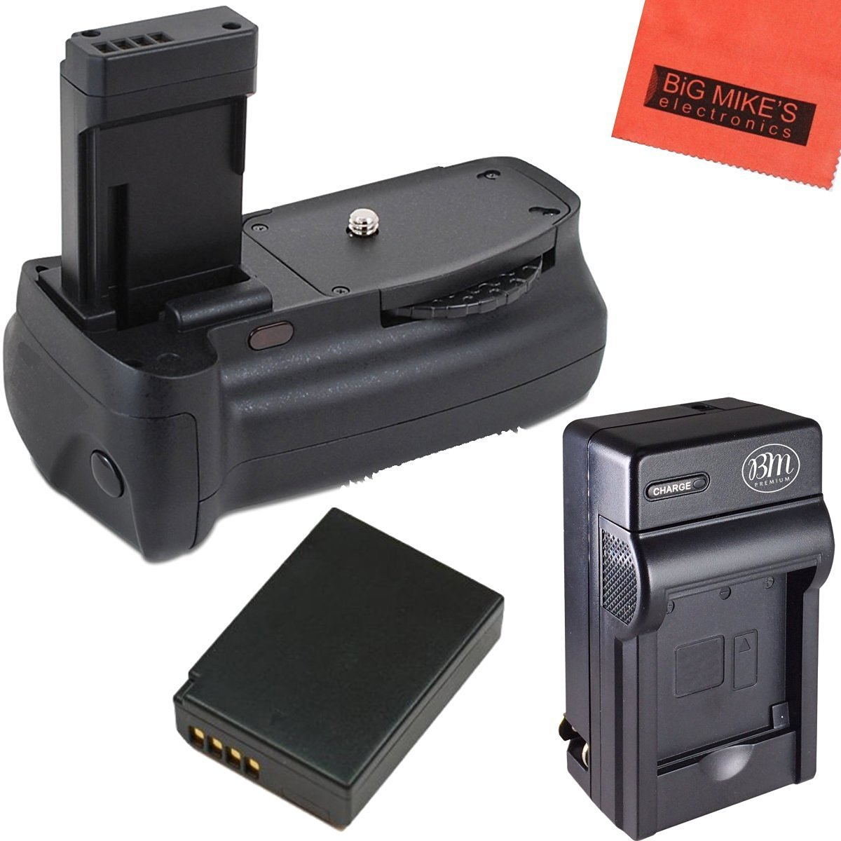 Battery Grip Kit for Canon EOS Rebel T3, T5, T6, Kiss X50, Kiss X70, EOS 1100D, EOS 1200D, EOS 1300D Digital SLR Camera Includes Qty 1 Replacement LP-E10 Battery + Battery Charger + Vertical Battery Grip + More!!