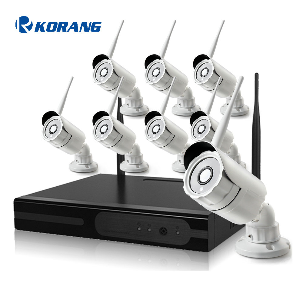 8 Channel 1080P Outdoor Security Wifi IP Camera System 2.0 Megapixel 8CH P2P Cloud H.264 Onvif Wireless NVR Kit